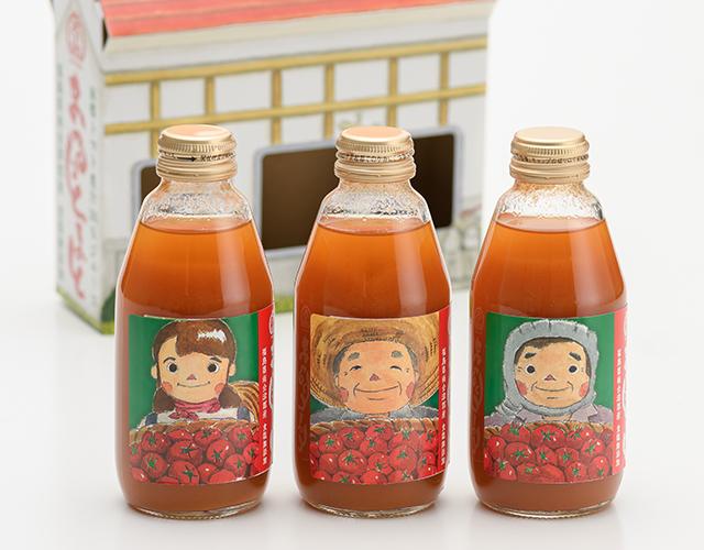 南郷トマト100%果汁100%ジュース「まるっとまと」パッケージデザイン