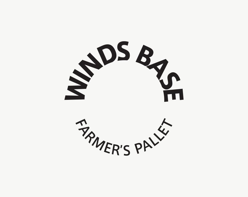 農産物直売所「WINDS BASE」ロゴデザイン